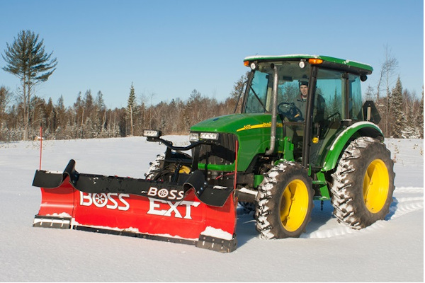 Boss Snowplow | Tractor Plows | Model EXT 8' Retracted and 10' Expanded for sale at Rippeon Equipment Co., Maryland