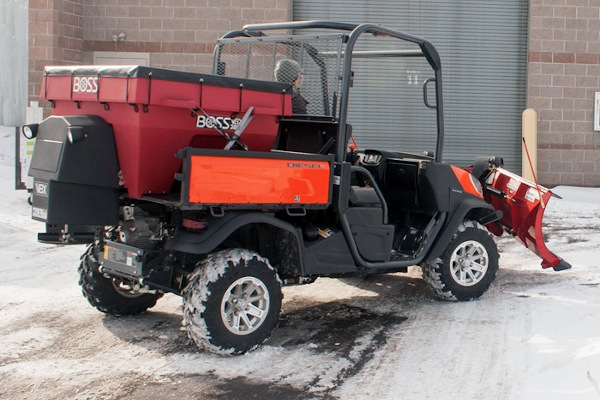 Boss Snowplow | Ice Control Equipment | UTV V-Box Spreaders for sale at Rippeon Equipment Co., Maryland