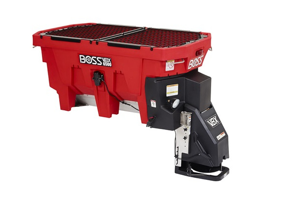 Boss Snowplow | VBX Spreaders | Model VBX6500 Pintle Chain Spreader for sale at Rippeon Equipment Co., Maryland