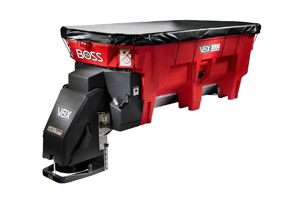 Boss Snowplow | VBX Spreaders | Model VBX8000 Pintle Chain Spreader for sale at Rippeon Equipment Co., Maryland