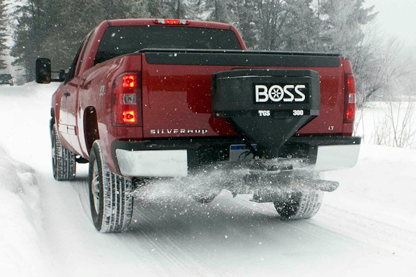 Boss Snowplow | Truck Equipment | Tailgate Spreaders for sale at Rippeon Equipment Co., Maryland