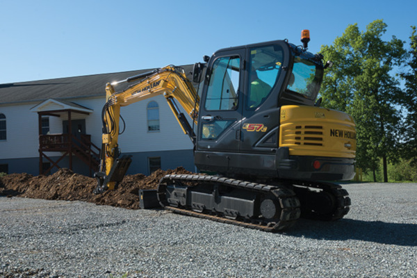 New Holland | Compact Excavators - C-Series | Model E57C for sale at Rippeon Equipment Co., Maryland