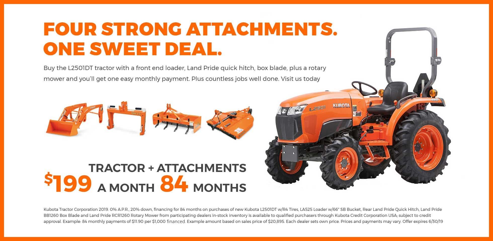 Four Strong Attachments, One sweet deal.