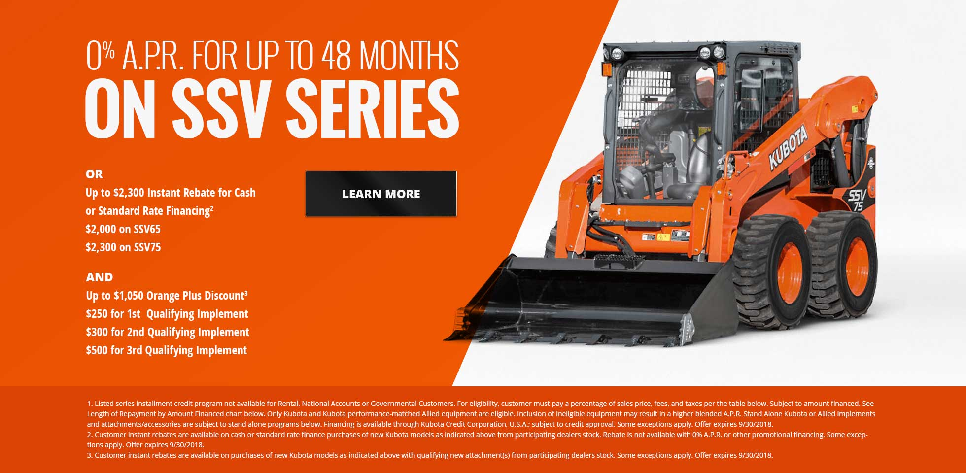 0% A.P.R. FOR UP TO 48 MONTHS ON SSV SERIES