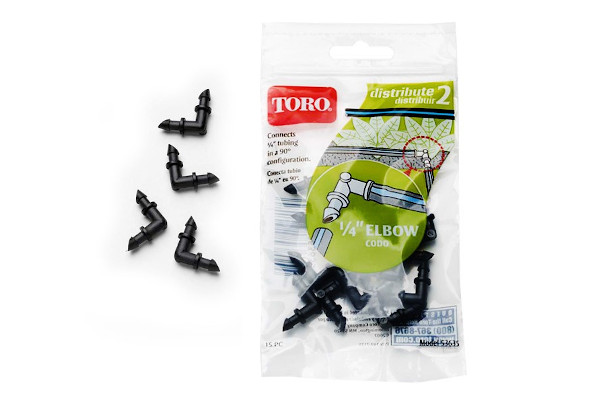 "Toro | Landscape Drip | Model 1/4"" (.6 cm) Elbow (15 pack) (53635) for sale at Rippeon Equipment Co., Maryland"