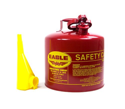 Safety Gas Can >> Eagle 5 Gallon Metal Safety Gasoline Can